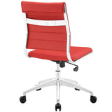 VALLIX ARMLESS MID BACK OFFICE CHAIR IN RED