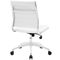 VALLIX ARMLESS MID BACK OFFICE CHAIR IN WHITE