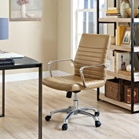 ESTHER MID BACK OFFICE CHAIR IN TAN