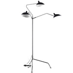 GLANCE STAINLESS STEEL FLOOR LAMP IN BLACK