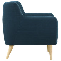 COLBY UPHOLSTERED FABRIC ARMCHAIR IN AZURE
