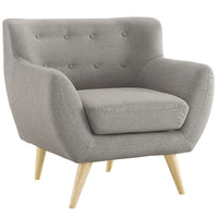 COLBY UPHOLSTERED FABRIC ARMCHAIR IN LIGHT GRAY
