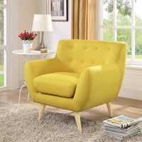 COLBY UPHOLSTERED FABRIC ARMCHAIR IN SUNNY