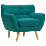 COLBY UPHOLSTERED FABRIC ARMCHAIR IN TEAL