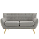 COLBY UPHOLSTERED FABRIC LOVESEAT IN LIGHT GRAY