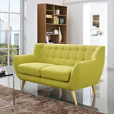 COLBY UPHOLSTERED FABRIC LOVESEAT IN WHEATGRASS