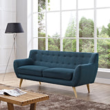 COLBY UPHOLSTERED FABRIC SOFA IN AZURE