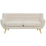 COLBY UPHOLSTERED FABRIC SOFA IN BEIGE