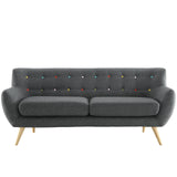 COLBY UPHOLSTERED FABRIC SOFA IN GRAY