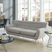 COLBY UPHOLSTERED FABRIC SOFA IN LIGHT GRAY