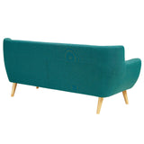 COLBY UPHOLSTERED FABRIC SOFA IN TEAL
