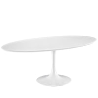"DIMA 78"" OVAL WOOD TOP DINING TABLE IN WHITE"
