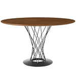 "ANADO 47"" ROUND WOOD TOP DINING TABLE IN WALNUT"