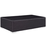 MARVILLE OUTDOOR PATIO COFFEE TABLE IN ESPRESSO