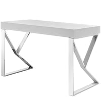 KOTO DESK IN WHITE SILVER