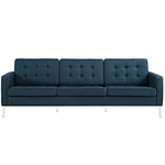 VEROS UPHOLSTERED FABRIC SOFA IN AZURE