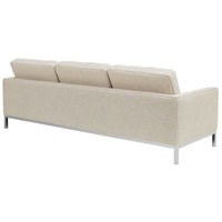 VEROS UPHOLSTERED FABRIC SOFA IN BEIGE