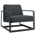 KOLTER UPHOLSTERED FABRIC ARMCHAIR IN GRAY
