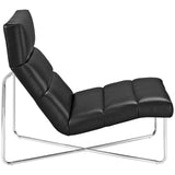 TERRA UPHOLSTERED VINYL LOUNGE CHAIR IN BLACK