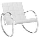 GLYDE UPHOLSTERED VINYL LOUNGE CHAIR IN WHITE