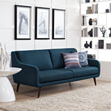 PERSELLO UPHOLSTERED FABRIC SOFA IN AZURE