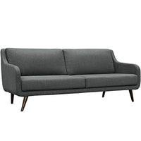 PERSELLO UPHOLSTERED FABRIC SOFA IN GRAY