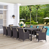 MARVILLE 11 PIECE OUTDOOR PATIO DINING SET (MULTIPLE COLORS)