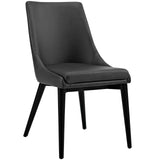 WEBBER VINYL DINING CHAIR IN BLACK