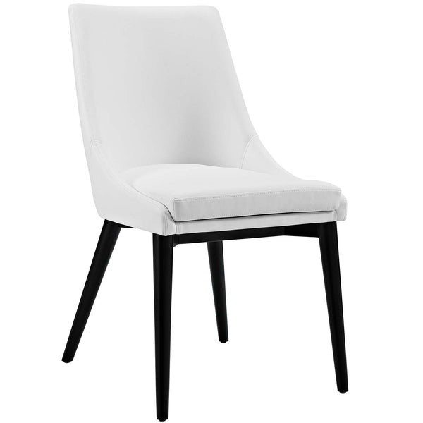 WEBBER VINYL DINING CHAIR IN WHITE