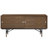 "TROY 77"" MEDIA STAND IN WALNUT"