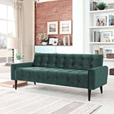 MACHINA VELVET SOFA IN EMERALD GREEN