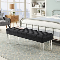 EMORI VELVET BENCH IN BLACK