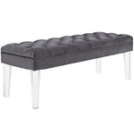 EMORI VELVET BENCH IN GRAY