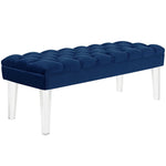 EMORI VELVET BENCH IN NAVY