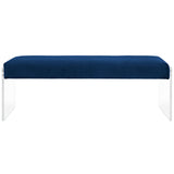 CORA VELVET BENCH IN NAVY