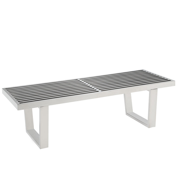 VENTA 4' STAINLESS STEEL BENCH IN SILVER