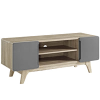 "ATMOS 47"" TV STAND WITH SIDE CABINETS IN NATURAL GRAY"