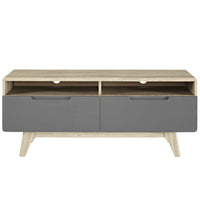 "ATMOS 47"" TV STAND WITH DRAWERS IN NATURAL GRAY"