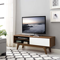 "BAKER 44"" TV STAND IN WALNUT WHITE"