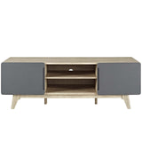 "ATMOS 59"" TV STAND IN NATURAL GRAY"