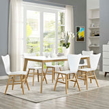 "WEISS 71"" DINING TABLE IN WHITE"