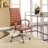 VALLIX HIGHBACK OFFICE CHAIR IN TERRACOTTA