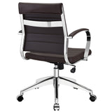 VALLIX MID BACK OFFICE CHAIR IN BROWN