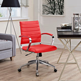 VALLIX MID BACK OFFICE CHAIR IN RED