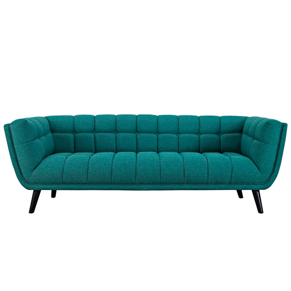 ENVI UPHOLSTERED FABRIC SOFA IN TEAL