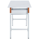 HOPKINS WOOD WRITING DESK IN WHITE ORANGE