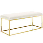 ELARA FABRIC BENCH IN GOLD IVORY