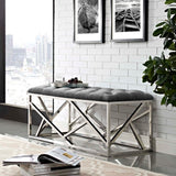 CORDIAL BENCH IN SILVER AND GRAY