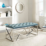 CORDIAL BENCH IN SILVER AND SEA BLUE