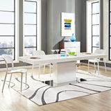 CABRIA EXPANDABLE DINING TABLE IN WHITE